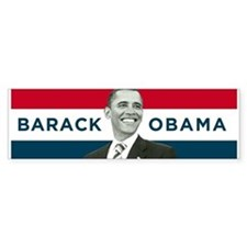Barack Obama (Red, White Blue with Image) Car Sticker