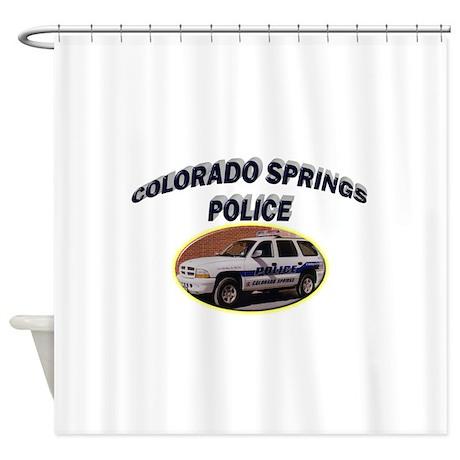 Colorado Springs Police Shower Curtain