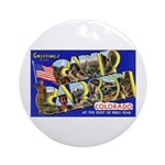 Camp Carson Colorado Ornament (Round)