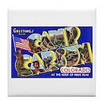 Camp Carson Colorado Tile Coaster