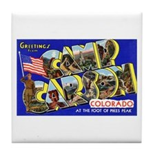 Camp Carson Colorado Tile Coaster