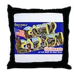 Camp Carson Colorado Throw Pillow