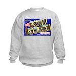 Camp Carson Colorado (Front) Kids Sweatshirt