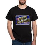 Camp Carson Colorado (Front) Black T-Shirt