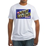 Camp Carson Colorado (Front) Fitted T-Shirt