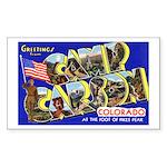 Camp Carson Colorado Rectangle Sticker