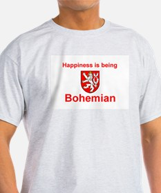 Happy Bohemian Ash Grey T-Shirt