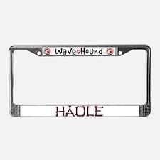 Haole License Plate Frame