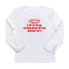 Viva Cristo Rey Red Long Sleeve Infant T-Shirt