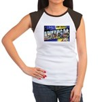 Camp Chaffee Arkansas (Front) Women's Cap Sleeve T