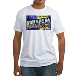Camp Chaffee Arkansas (Front) Fitted T-Shirt