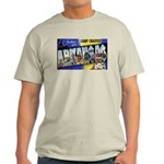 Camp Chaffee Arkansas (Front) Ash Grey T-Shirt