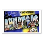 Camp Chaffee Arkansas Rectangle Sticker