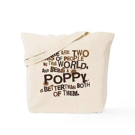 Poppy Funny Grandpa Tote Bag