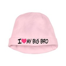 I Heart My Big Bro Baby Hat