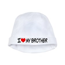 I Heart My Brother Baby Beanie Hat