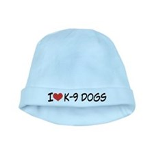 I Love K-9 Dogs Baby Hat