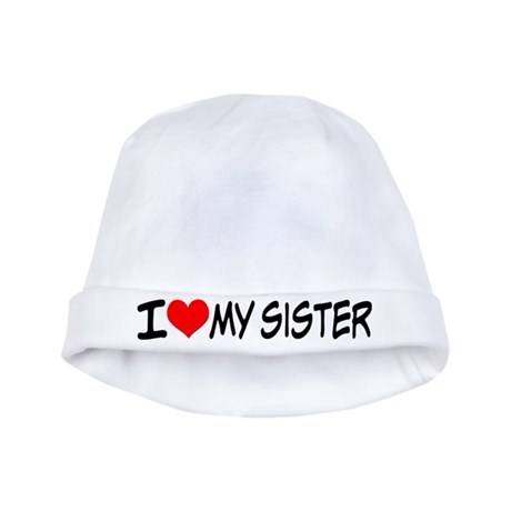 I Heart My Sister Baby Hat