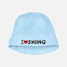 I Love Skiing Little Skier Baby Hat