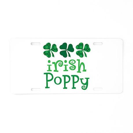 Irish Poppy Grandpa Aluminum License Plate