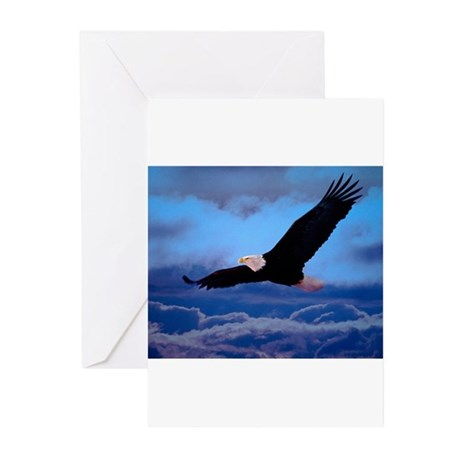 eagle Soaring High Greeting Cards (Pk of 10)