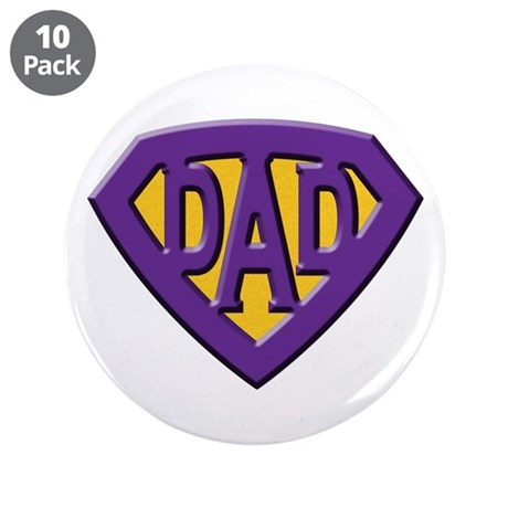 "Super-Dad 3.5"" Button (10 pack)"