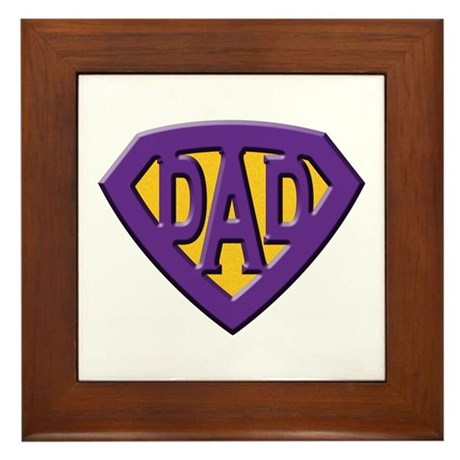Super-Dad Framed Tile