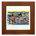 Camp Hale Colorado Framed Tile