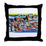 Camp Hale Colorado Throw Pillow