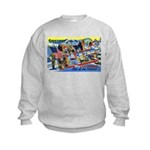 Camp Hale Colorado (Front) Kids Sweatshirt