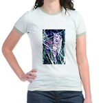 Colorful Cat Jr. Ringer T-Shirt