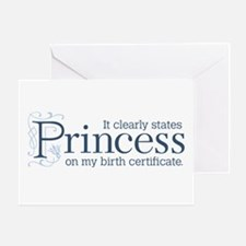 Princess Certificate Greeting Card