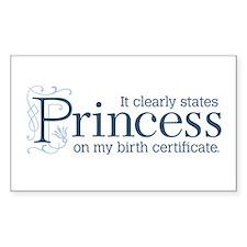 Princess Certificate Decal