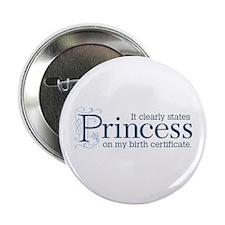 "Princess Certificate 2.25"" Button"