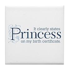 Princess Certificate Tile Coaster