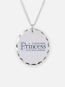 Princess Certificate Necklace