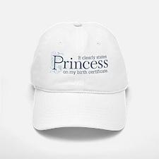 Princess Certificate Baseball Baseball Cap