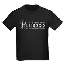 Princess Certificate T