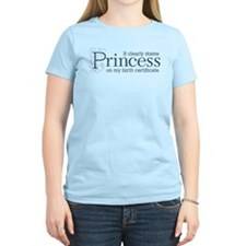 Princess Certificate T-Shirt
