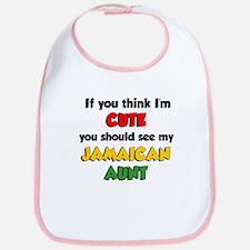Think Im Cute Jamaican Aunt Bib