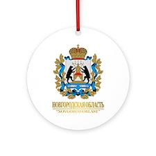 Novgorod Oblast COA Ornament (Round)