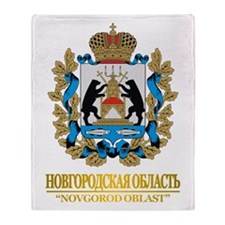 Novgorod Oblast COA Throw Blanket