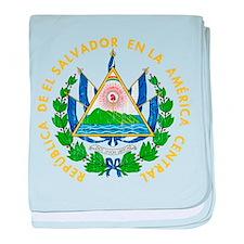El Salvador Coat Of Arms baby blanket
