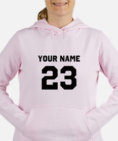 Customize sports jersey Women's Hooded Sweatshirt