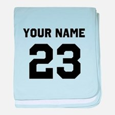 Customize sports jersey number baby blanket