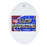 Camp Livingston Louisiana Oval Ornament