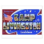 Camp Livingston Louisiana Small Poster