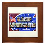 Camp Livingston Louisiana Framed Tile