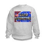 Camp Livingston Louisiana (Front) Kids Sweatshirt