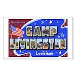 Camp Livingston Louisiana Rectangle Sticker
